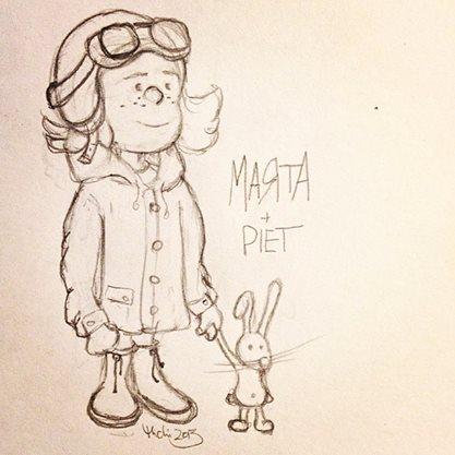 Das sind Marta und ihr Hase Piet