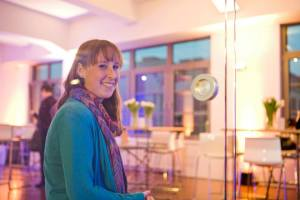 Charlotte im social impact lab Frankfurt. Foto: Birte Filmer