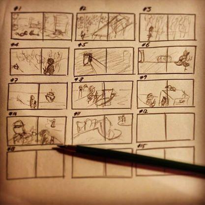 """das Storyboard zu """"Marta & Piet"""""""