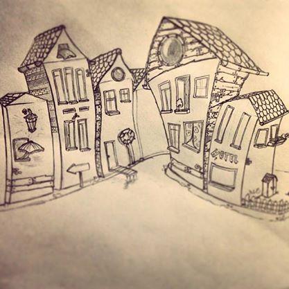 Marta und Piet wohnen in einer großen Stadt