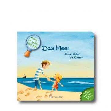 """Produktbild vom Buch """"Das Meer"""". Man sieht einen Mann mit einem Mädchen am Strand stehen und auf das Meer schauen."""