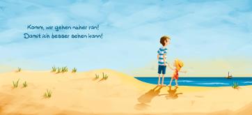 Innenseite: Komm, wir gehen näher ran! Das Meer