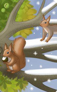 """""""Guck mal, wer lebt im Wald?"""" Eichhörnchen im Winter"""