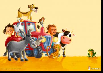 """Postkarte mit Motiv aus """"Die Kuh ruft MUUUH!"""""""