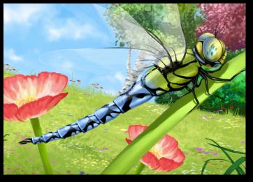 """Postkarte mit Motiv aus """"Eine Königslibelle in Neles Garten"""""""