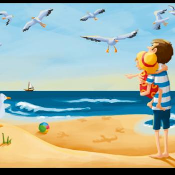 """Postkarte mit Motiv aus """"Das Meer"""""""