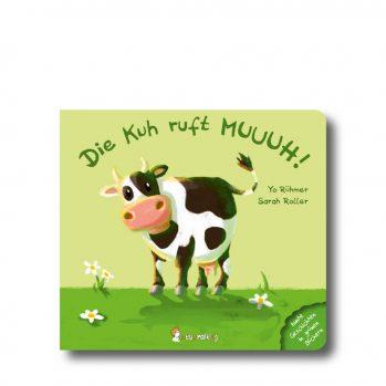 """Produktbild von """"Die Kuh ruft MUUUH!"""". Man sieht eien Kuh"""