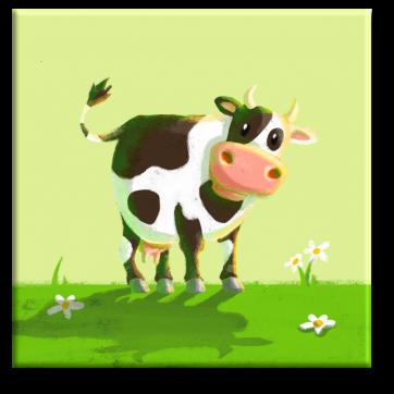 """Leinwand: Kuh aus """"Die Kuh ruft Muuuh!"""""""