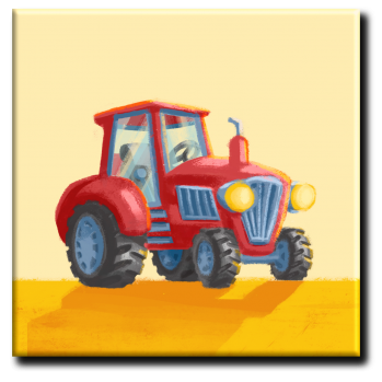 "Leinwand: Traktor aus ""Die Kuh ruft Muuuh!"""