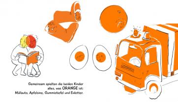"""Innenseite vom Buch """"Die Welt hat viele Farben!"""""""