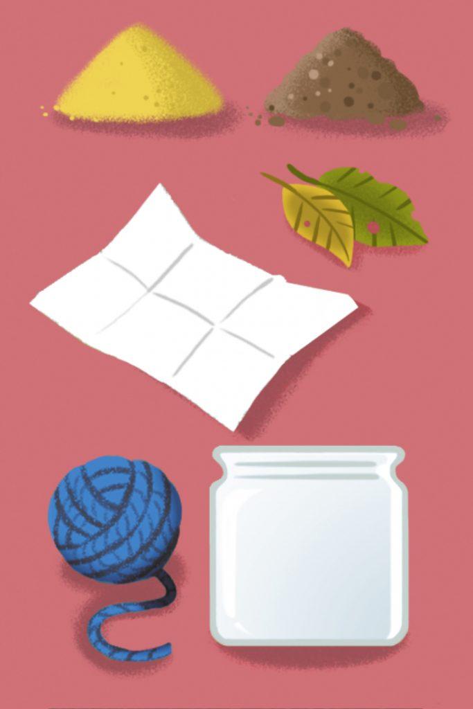 Benötigtes Material für eine Regenwurmbeobachtunsstation
