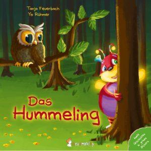 """Coverbild von """"Das Hummeling"""". Man sieht das Hummeling, wie es hinter einem Baum hervorschaut."""